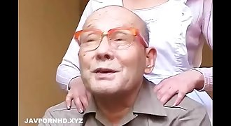 Unsatisfied Japanese fucking father and knob in law