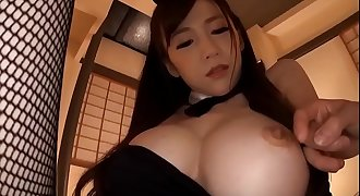 Asian hot milf cosplayed bunny girl