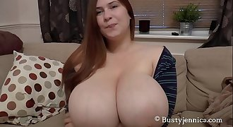 Busty Jennica Lynn really knows how to use those Big Tits on dick