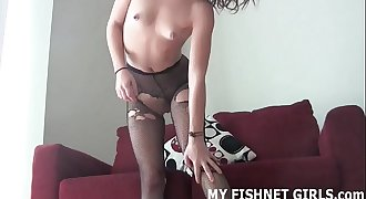 I heard you like hot bellowing in sexy fishnets JOI