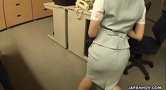 Asian D/s getting fucked on the office table