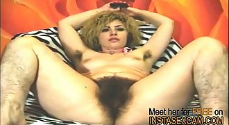 Hairy Tina shows her awesome pussy